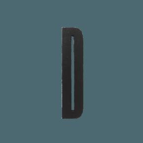 Design Letters Black wooden letters - D
