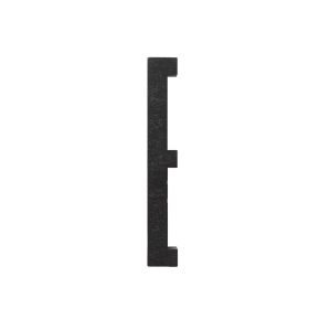 Design Letters Black wooden letters - E
