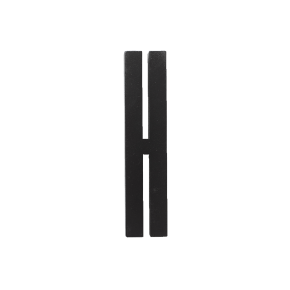 Design Letters Black wooden letters - H