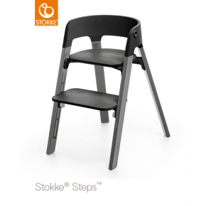 Stokke Steps højstol - Sort/storm grey