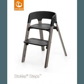 Stokke Steps Højstol - Sort / Hazy Grey
