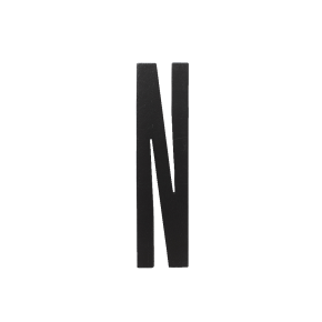 Design Letters Black wooden letters - N
