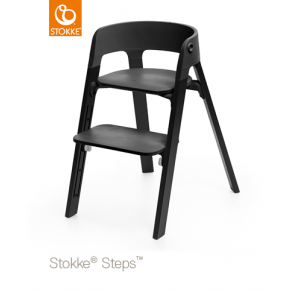 Stokke Steps Højstol - Black/Black