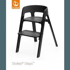 Stokke Steps højstol Sort/sort