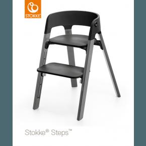 Stokke Steps Højstol - Sort / Storm Grey