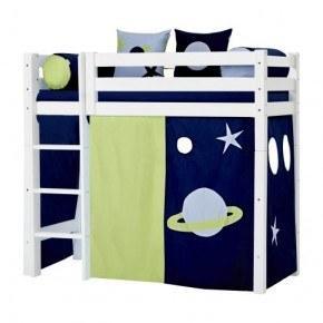 Hoppekids Forhæng til mellemhøj seng (70x160) - Space