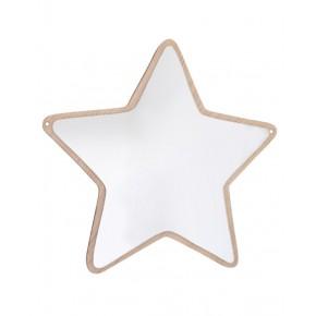 Maseliving - Stjerne spejl (egetræ)