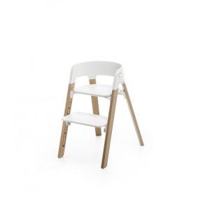 Stokke Steps højstol - hvid/natur