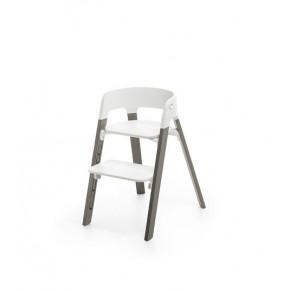 Stokke Steps højstol - White/Hazy Grey