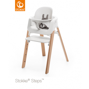 Stokke Steps Højstol + babysæt- Hvid/natur Højstol