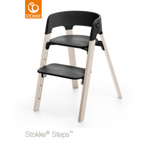 Stokke Steps Højstol - Sort/Whitewash