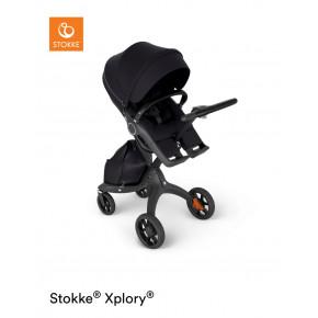 Stokke Xplory klapvogn med sort håndtag i læderlook - Black