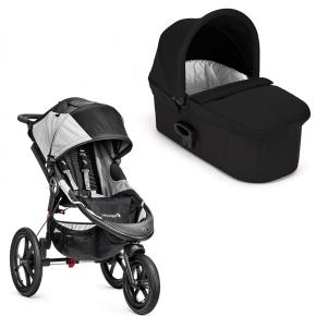 Baby Jogger Summit X3 løbevogn - Black/grey med Deluxe pram - Black