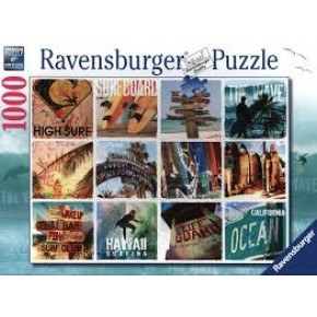 Ravensburger -  Surfer Collage (1000 pcs) Puslespil