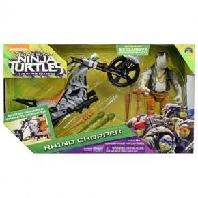 Turtles - Rocksteady med motorcykel