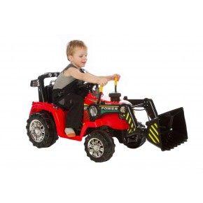 Ride ons Azeno power traktor - Rød