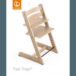 Tripp Trapp stol oak - White/Natur Højstol