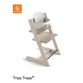 Tripp Trapp højstol + babysæt - whitewash/white