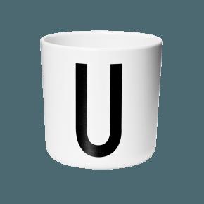 Design Letters AJ melamin cup - U