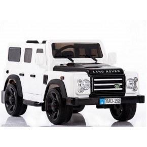 Ride ons Land rover defender - Hvid - Med fjernbetjening