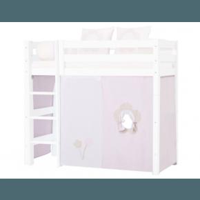 Hoppekids forhæng til mellemhøj seng (70x160) - Fairytale Flower