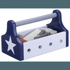 Kids Concept lege-værktøjskasse - Blå/hvid