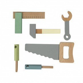 Sebra Værktøjssæt i træ (6 stk.)