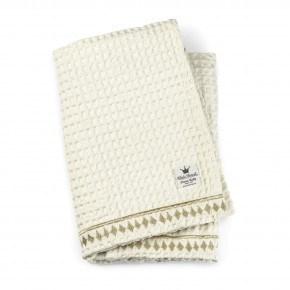 Elodie Details - Vaffelvævet tæppe, Vanilla White