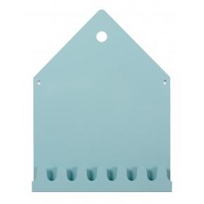 Roommate - Villa Magnettavle & Knagerække - Pastel Blå
