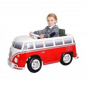 Ride ons VW bus - Rød - Med fjernbetjening.