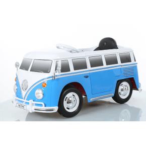 Ride ons VW bus - Blå - Med fjernbetjening