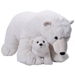 Wild Republic mor og baby isbjørn bamse 76 cm