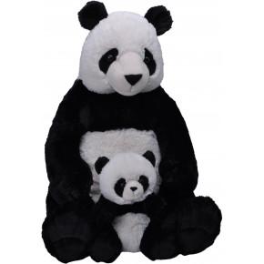 Wild Republic mor og baby panda bamse 76 cm