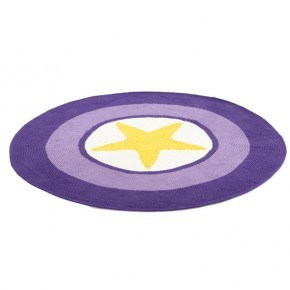 Smallstuff Hæklet gulvtæppe - yellow star
