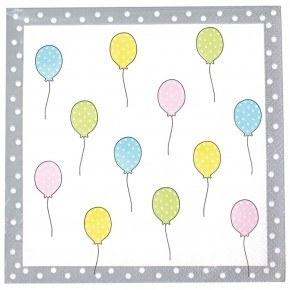 JaBaDaBaDo Fødselsdags servietter - Balloner