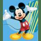 Disney fleece tæppe 120x140 cm - Mickey