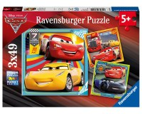 Ravensburger Cars 3: Legend of the Track puslespil - 3x49 brikker