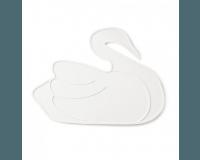 By Lille Vilde - Dækkeserviet, hvid svane