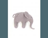 Smallstuff bamse, strikket elefant, lilla