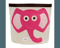 3 Sprouts Opbevaringsbeholder Rund - Elefant, Pink
