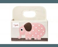 3 Sprouts Opbevaringskurv til bleer - Elephant