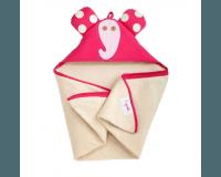 3 Sprouts Baby Håndklæde med Hætte - Elephant