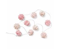Cam Cam Origami lyskæde - Mix Rose