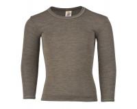 Engel langærmet bluse i uld/silke str. 116 - valnød