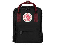 Fjällräven Mini Kånken rygsæk - Black/Ox Red