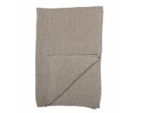Bloomingville strikket tæppe m. uld - brun