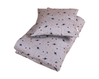 Filibabba babysengetøj space 70x100 cm. - grå