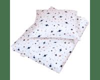 Filibabba Juniorsengetøj space 100x140 cm - Natur hvid