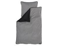 Manostiles Perfect Black - sort/hvidt Juniorsengetøj 100x140 cm