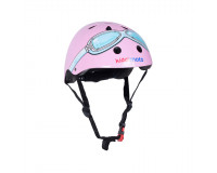 Kiddimoto cykelhjelm str. M - pink briller